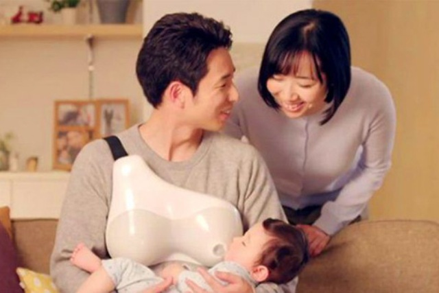 fathere28099s nursing assistant by dentsu helps fathers to breastfeed babies